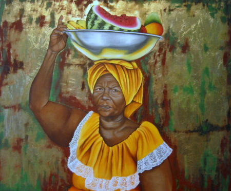 palenquera oil on canvas painting